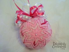 Rays of Hope  Pink Breast Cancer Awareness by DelightfullyOrnament, $20.00