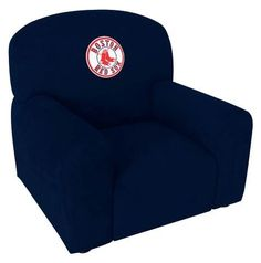 Boston+Red+Sox+Stationary+Navy+Blue+Upholstered+Kids+