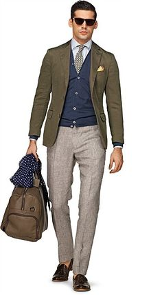 Suit Supply COPENHAGEN GREEN PLAIN | JBB2 / Style | Pinterest