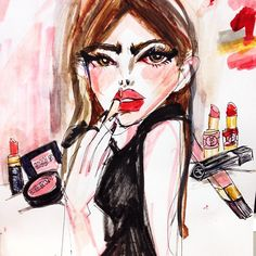 Makeup fashion illustration by Blairz