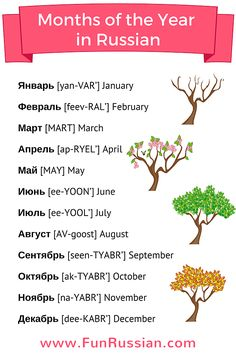 Russian Video Lesson: Months of the Year in Russian.