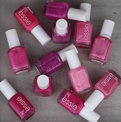 We can't get enough of pink essie polishes! LOVE.