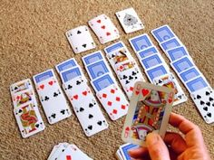 Solitaire with real cards