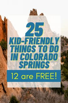 25 Kid-Friendly Things to do in Colorado Springs [12 are FREE!] Here are some of our favorite family activities in the beautiful Colorado Springs, from whitewater rafting to museum perusing. Packing For A Cruise, Packing List For Travel, Travel Tips, Travel Ideas, Travel Inspiration, Family Vacation Destinations, Best Vacations, Vacation Ideas, Travel With Kids