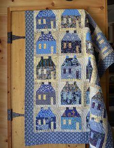 Blue houses quilt