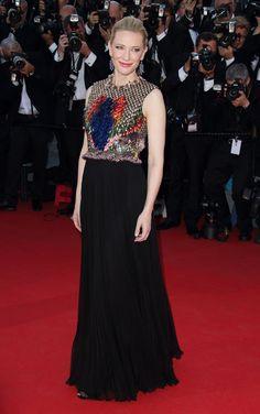 LEs plus belles robes du Festival de Cannes   Cate Blanchett en robe Givenchy automne-hiver 2014-2015 et bijoux Chopard