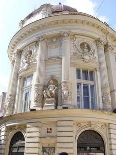 Lipscani - Bucuresti, Romania Neoclassical Architecture, French Architecture, Victorian Architecture, Beautiful Architecture, Architecture Details, Capital Of Romania, Visit Romania, Door Gate Design, Little Paris