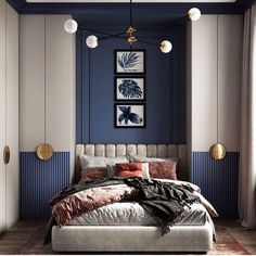 Inspirational ideas about Interior Interior Design and Home Decorating Style for Living Room Bedroom Kitchen and the entire home. Curated selection of home decor products. Room Design Bedroom, Home Room Design, Bedroom Styles, Home Bedroom, Bedroom Decor, Quirky Bedroom, 1920s Bedroom, Eclectic Bedrooms, Bedroom Black
