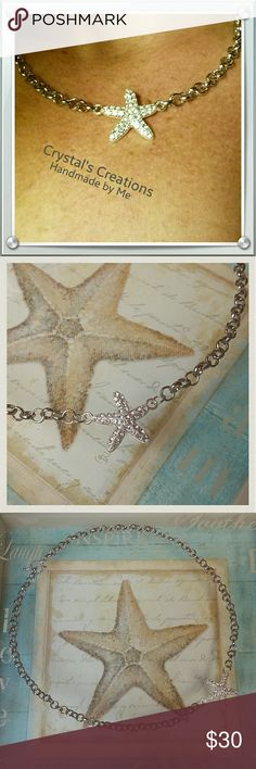 Spotted while shopping on Poshmark: JUST IN! Crystal's Creations Starfish Necklace! #poshmark #fashion #shopping #style #Crystal's Creations #Jewelry