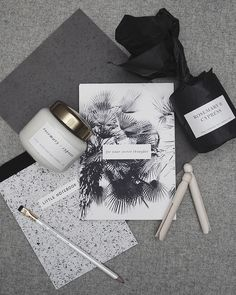 Diy notebooks and scented candles.