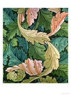 """Acanthus"" Wallpaper Design, 1875 Giclee Print by William Morris at AllPosters.com"