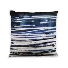 "Dark Storm Abstract Zip Pillow Cover 18"" x 18"" by Geo Evolution"