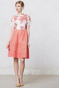 Anthropologie Embroidered Halcyon Dress