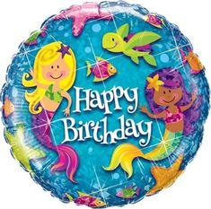 18 Birthday Mermaids Holographic Balloon *** Details can be found by clicking on the image.