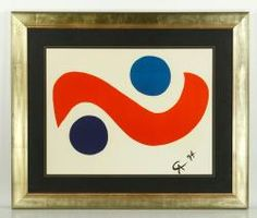 Calder Lithograph 20th C. Modern Design and Fine Art Auction | Kaminski Auctions