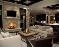 Living Room Open Floorplan Design,
