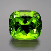 Peridot, 36.70 cts., 19.67 x 17.74 x 13.74 mm. Search on inventory number 15529. (Photo: Wimon Manorotkul)