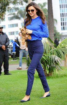 Miranda Kerr shooting a commercial in Santa Monica, California on February 5, 2015.