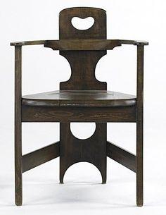 Richard Riemerscmid,   beechwood chair, 1900