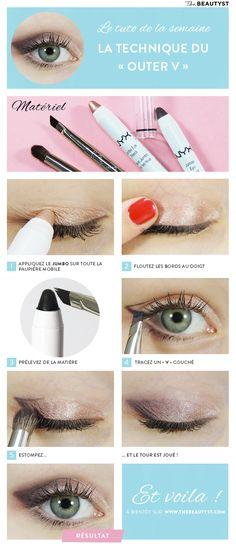#Tuto : La technique #maquillage du « Outer V » avec les Jumbos #NYX @valeriemousseau