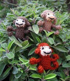 LucyRavenscar - Crochet Creatures: Mini Monkeys - Free Amigurumi Pattern