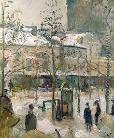 Boulevard de Rochechouart 1878 - Camille Pissarro
