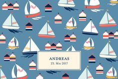 Geburtskarte Lange Segelfahrt by Le Collectif für Rosemood.de #Schiff #Geburtskarte #Segel