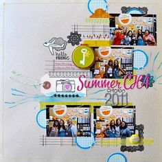 Love how Amy integrated stamping into this layout, and the structure really catches the eye!