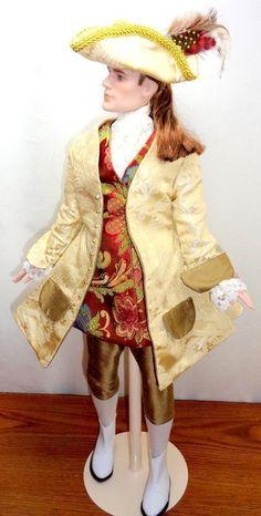 """OOAK 1770s Colonial Dandy Palace Ambassador Tonner 17"""" Matt O'Neill Fashion Doll - Tyler's Friends"""
