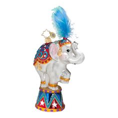 "The Christopher Radko ""Big Top, Big Fun"" Ornament is part of the 2013 Animal Collection of Radko Ornaments."
