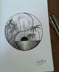 Pin by ola on draws in 2019 tattoo drawings, art drawings, doodle art. Cool Art Drawings, Pencil Art Drawings, Tattoo Drawings, Body Art Tattoos, Art Sketches, Drawing Ideas, Tatoos, Doodle Art, Yin Yang Tattoos