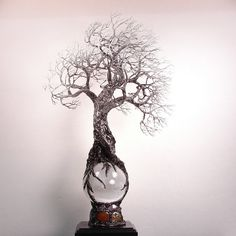 Full+Moon+rising+Selenite+Sphere+wire+Tree+Of+by+CrowsFeathers,+$700.00
