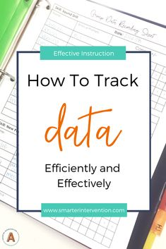 Tracking data in your literacy intervention for IEPs, RTI, or general goals can be easy! Check out this easy to implement data tracking system. Reading Intervention Strategies, Reading Intervention Classroom, Intervention Specialist, Response To Intervention, Reading Fluency, Reading Resources, Reading Activities, Student Data Tracking, Progress Monitoring