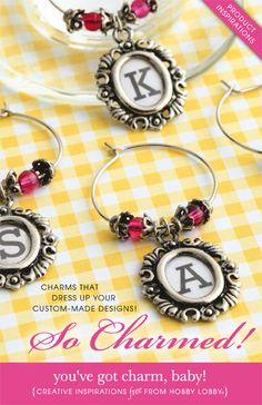 Charms that dress up your custom-made designs!