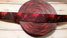 Blood Splatter Grosgrain Ribbon Horror ribbon