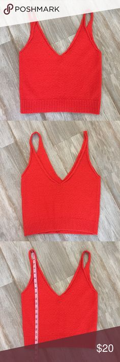 Zara Knit Red Crop Top! Adorable! Perfect for spring or summer. Excellent condition! Zara Tops Crop Tops