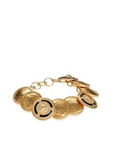 Sam Ubhi Vintage Gold Button Chunky Bracelet
