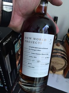 New World Projects Starwood limited release Pedro Ximinez Sherry Cask World Of Whisky, Bottle, Projects, Log Projects, Blue Prints, Flask, Jars