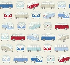 Campervan Oil Cloth Blue