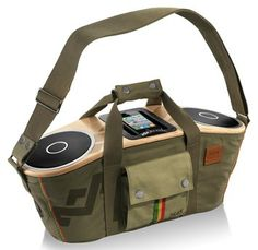 Bag of Rhythm Portable Audio System - House of Marley is releasing a reggae-inspired boombox called the Bag of Rhythm Portable Audio System for those who want music blasting wherever th. Speaker System, Audio System, Le Manoosh, Whatsapp Tricks, Ipod Dock, Fitness Armband, Stereo Speakers, Iphone Speakers, Portable Speakers