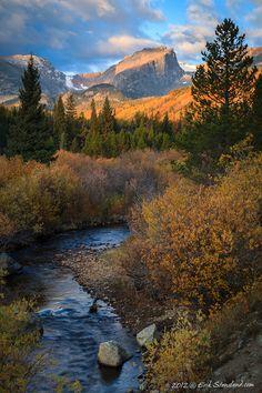 Glacier Creek Autumn photo by Erik Stensland; Storm Pass Trailhead, Rocky Mountain National Park