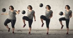 Woman Losing Weight With Exercise