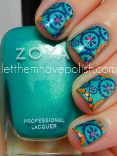 Let them have Polish!: Zoya Zuza Summery Nail Art