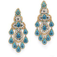 Rental Miguel Ases Alhambra Earrings (4.265 RUB) ❤ liked on Polyvore featuring jewelry, earrings, miguel ases jewelry, earring jewelry, swarovski crystal jewelry, 18k earrings and miguel ases