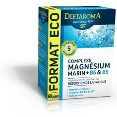 Le complexe Magnésium Marin est un #complement #alimentaire #bio. Il allie le magnésium et les vitamines B6 et B5, pour lutter naturellement contre la fatigue.