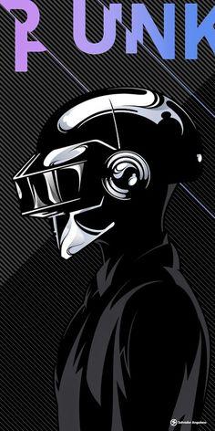 New music poster techno daft punk Ideas Arte Punk, Punk Art, Dubstep, Daft Punk Poster, New Retro Wave, Music Artwork, Expo, Cultura Pop, Illustrations