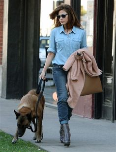 Eva Mendes and her dog, Hugo, stopped by a hair salon in West Hollywood, Calif., on Oct. 16, 2013. We're assuming Eva is the only one who got styled that day, but in Hollywood, you never know!