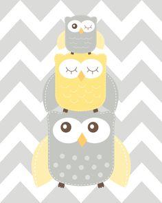 Nursery Art Nursery Owl Art Grey and Yellow Nursery Owl nursery print Owl Nursery Choose your colors Yellow Nursery, Owl Nursery, Nursery Neutral, Nursery Prints, Nursery Room, Nursery Wall Art, Baby Room, Neutral Nurseries, Nursery Ideas