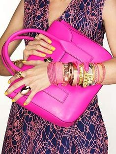 Awesome color pop & bangles