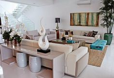 Construindo Minha Casa Clean: Dúvida da Leitora Gisela! Como Decorar sua Sala de Estar?